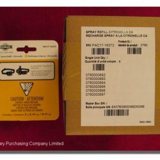 CITRONELLA SPRAY REFILL CARTRIDGE  PKG/3