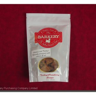 BARKERY TURKEY & CRANBERRY SNAPS 225 G